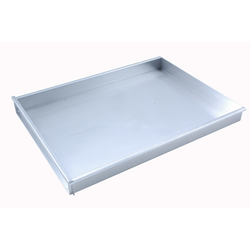 BAKING TRAY 45x60 450x600x50mm Aluminium 1,4mm Removable short side