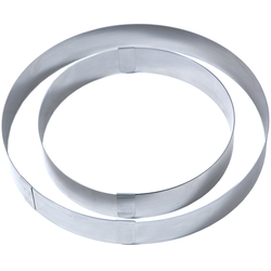 CAKE RING øVARIABLE x50mm Stainless steel Max ø315mm