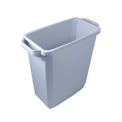 BIN  60L RECTANGULAR Grey Plastic