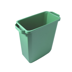 BIN  60L RECTANGULAR Green Plastic