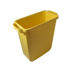 BIN  60L RECTANGULAR Yellow Plastic