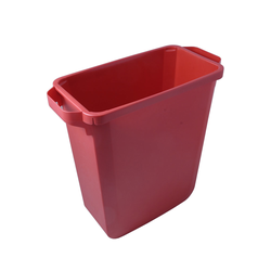 BIN  60L RECTANGULAR Red  Plastic