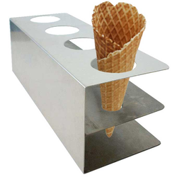 CONE STAND for 4 cones Stainless steel {Conforms with: EU 1935/2004, EU 2023/2006}