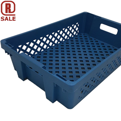BREAD BASKET 40x60 27L Blue RAL5015 PP-plastic Perforated base and sides Nesting height 44mm Internal 370x565x137mm {Conforms with: EU 1935/2004, EU 2023/2006, EU 10/2011}