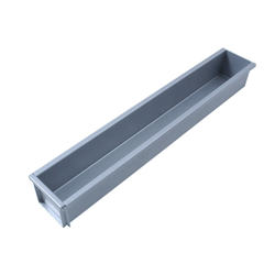 BAKING TIN PAN MOULD  3,3L 590x75x75mm Aluminium Nonstick Silicone resin coated RilonHard Grey Internal 590x75x75mm 1 short side lose {Conforms with: EU 1935/2004, EU 2023/2006, EN AW-3003}