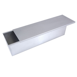 BAKING TIN PAN MOULD 13,0L WITH SLIDING LID 590x170x135mm Aluminium Internal 590/585x170/160x135mm Welded {Conforms with: EU 1935/2004, EU 2023/2006, EN AW-3003}