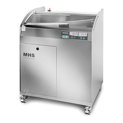 BREAD SLICER MHS PREMIUM Adjustable slice thickness 4-24mm External 840x700x1140mm (WxLxH) 1~230VAC 50Hz 2,5kW Max loaf length 400mm Rotating knife 140 slices/min