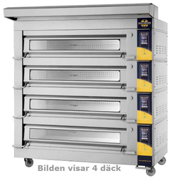 DECK OVEN Macbake 3-PAN Artisan 4-DECK 1470x820x190mm STEAM 3~400VAC 50Hz 54,4kW SMART-controller Legs and castors