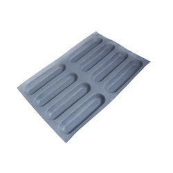FLEXIPAN FLEXITRAY BAKING TRAY PAN MOULD 40x60 BAGUETTE  8x 259x64x30mm Fibermaé (Made in France) Reinforced indented SILICONE MAT BAKING MAT for bread baking Temperature range -25..+260°C {Conforms with: EU 1935/2004, EU 2023/2006}