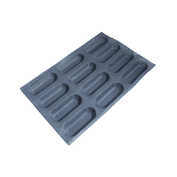 FLEXIPAN FLEXITRAY BAKING TRAY PAN MOULD 40x60 BAGUETTE 12x 169x64x30mm Fibermaé (Made in France) Reinforced indented SILICONE MAT BAKING MAT for bread baking Temperature range -25..+260°C {Conforms with: EU 1935/2004, EU 2023/2006}