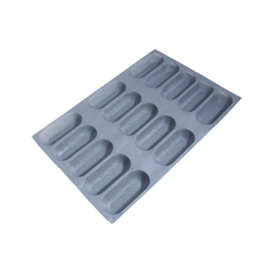 FLEXIPAN FLEXITRAY BAKING TRAY PAN MOULD 40x60 BAGUETTE 15x 155x64x30mm Fibermaé (Made in France) Reinforced indented SILICONE MAT BAKING MAT for bread baking Temperature range -25..+260°C {Conforms with: EU 1935/2004, EU 2023/2006}