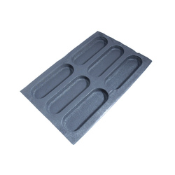 FLEXIPAN FLEXITRAY BAKING TRAY PAN MOULD 40x60 CIABATTA  6x 260x85x30mm Fibermaé (Made in France) Reinforced indented SILICONE MAT BAKING MAT for bread baking Temperature range -25..+260°C {Conforms with: EU 1935/2004, EU 2023/2006}