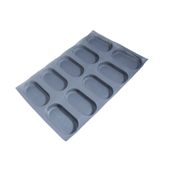 FLEXIPAN FLEXITRAY BAKING TRAY PAN MOULD 40x60 CIABATTA 10x 170x85x30mm Fibermaé (Made in France) Reinforced indented SILICONE MAT BAKING MAT for bread baking Temperature range -25..+260°C {Conforms with: EU 1935/2004, EU 2023/2006}