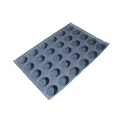 FLEXIPAN FLEXITRAY BAKING TRAY PAN MOULD 40x60 OVAL 30x 71x60x28mm Fibermaé (Made in France) Reinforced indented SILICONE MAT BAKING MAT for bread baking Temperature range -25..+260°C {Conforms with: EU 1935/2004, EU 2023/2006}