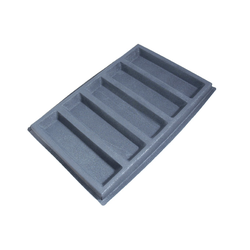 FLEXIPAN FLEXITRAY BAKING TRAY PAN MOULD 40x60 RECTANGULAR  5x 320x85x30mm Fibermaé (Made in France) Reinforced indented SILICONE MAT BAKING MAT for bread baking Temperature range -25..+260°C {Conforms with: EU 1935/2004, EU 2023/2006}