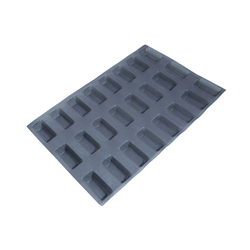 FLEXIPAN FLEXITRAY BAKING TRAY PAN MOULD 40x60 RECTANGULAR MINI LOAF 24x 95x40x30mm Fibermaé (Made in France) Reinforced indented SILICONE MAT BAKING MAT for bread baking Temperature range -25..+260°C {Conforms with: EU 1935/2004, EU 2023/2006}