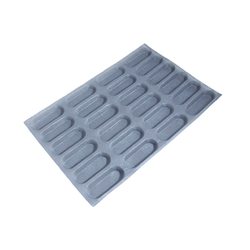 FLEXIPAN FLEXITRAY BAKING TRAY PAN MOULD 40x60 RECTANGULAR MINI LOAF 24x 130x48x18mm Fibermaé (Made in France) Reinforced indented SILICONE MAT BAKING MAT for bread baking Temperature range -25..+260°C {Conforms with: EU 1935/2004, EU 2023/2006}