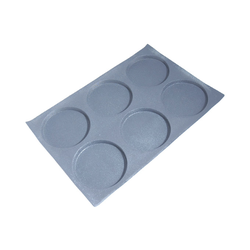 FLEXITRAY 40x60 ROUND  6x ø147x12mm Fibermaé (Made in France) Reinforced indented silicone mat for bread baking Temperature range -25..+260°C