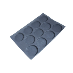 FLEXIPAN FLEXITRAY BAKING TRAY PAN MOULD 40x60 ROUND 11x ø114x18mm Fibermaé (Made in France) Reinforced indented SILICONE MAT BAKING MAT for bread baking Temperature range -25..+260°C {Conforms with: EU 1935/2004, EU 2023/2006}