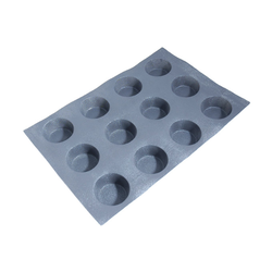 FLEXIPAN FLEXITRAY BAKING TRAY PAN MOULD 40x60 ROUND 12x ø91x43mm Fibermaé (Made in France) Reinforced indented SILICONE MAT BAKING MAT for bread baking Temperature range -25..+260°C {Conforms with: EU 1935/2004, EU 2023/2006}