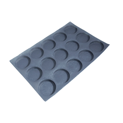 FLEXITRAY 40x60 ROUND 15x ø104x20mm Fibermaé (Made in France) Reinforced indented silicone mat for bread baking Temperature range -25..+260°C