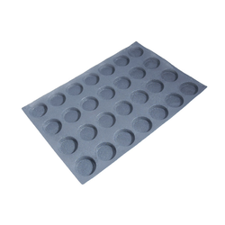FLEXITRAY 40x60 ROUND 28x ø70x15mm Fibermaé (Made in France) Reinforced indented silicone mat for bread baking Temperature range -25..+260°C
