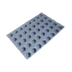 FLEXITRAY 40x60 ROUND 40x ø46x29mm Fibermaé (Made in France) Reinforced indented silicone mat for bread baking Temperature range -25..+260°C