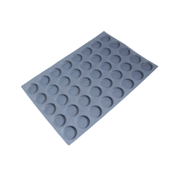 FLEXITRAY 40x60 ROUND 40x ø59x13mm Fibermaé (Made in France) Reinforced indented silicone mat for bread baking Temperature range -25..+260°C