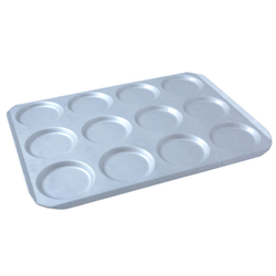 INDENTED BAKING TRAY SHEET PAN 45x60 ø125x12mm STD-type Aluminium 2,0mm Configuration 4x3 {Conforms with: EU 1935/2004, EU 2023/2006, EN AW-3003}