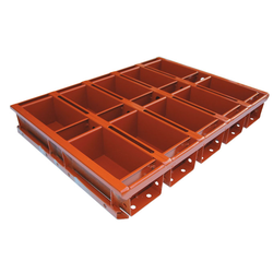 BAKING TIN SET PAN MOULD STRAP 45x60 10x1,1L 160mm SL-type Aluminium Nonstick Silicone rubber coated RilonElast Red Internal 160x92x80mm Configuration 2x5