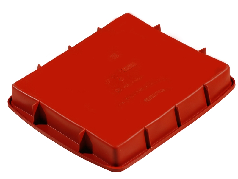 SILICONE BAKING MOULD PAN SQUARE 280x240x40mm 2,67L