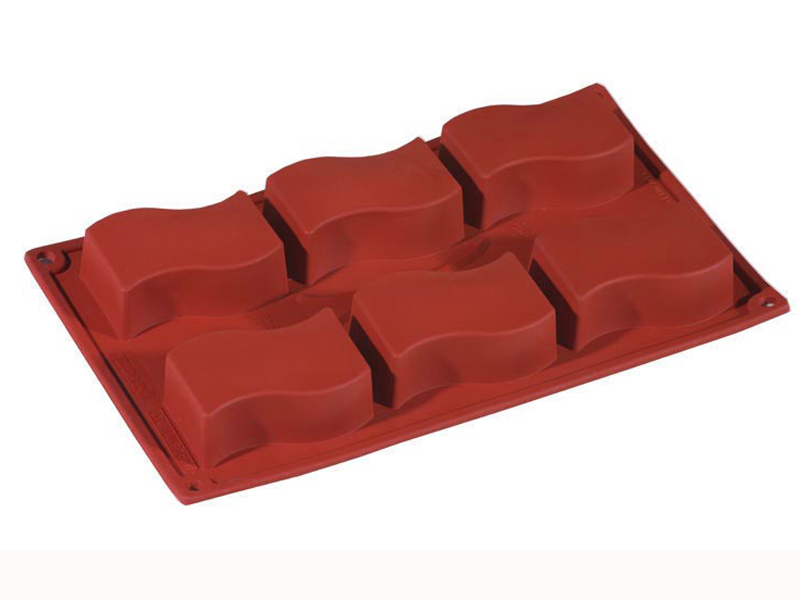 SILICONE BAKING MOULD PAN GN1/3 SQUARE ONDINE  85ml (6x 80x45x25mm)