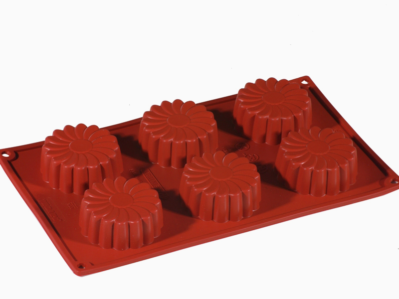 SILICONE MOULD GN1/3 MARGHERITA CAKE  75ml (6x ø68x27mm)