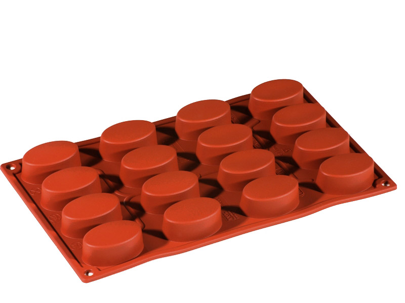 SILICONE MOULD GN1/3 OVAL  28ml (16x 55x33x20mm)