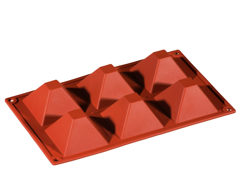 SILICONE MOULD GN1/3 PYRAMIDE  92ml (6x 71x71x40mm)