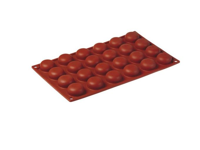 SILICONE BAKING MOULD PAN GN1/3 ROUND   13ml (24x ø34x16mm)   {Conforms with: EU 1935/2004, EU 2023/2006}