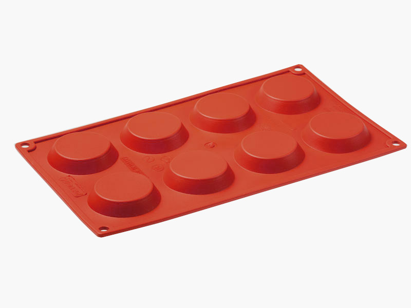 SILICONE MOULD GN1/3 ROUND BABA  97ml (8x ø55x60mm) Silikongummi
