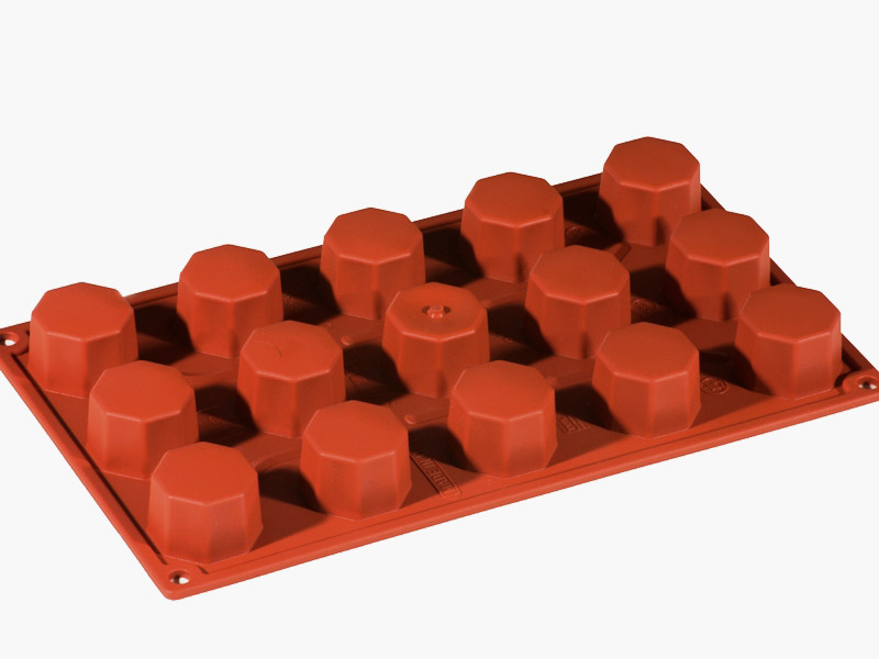 SILICONE MOULD GN1/3 OCTAGONE  28ml (15x ø38x26mm)