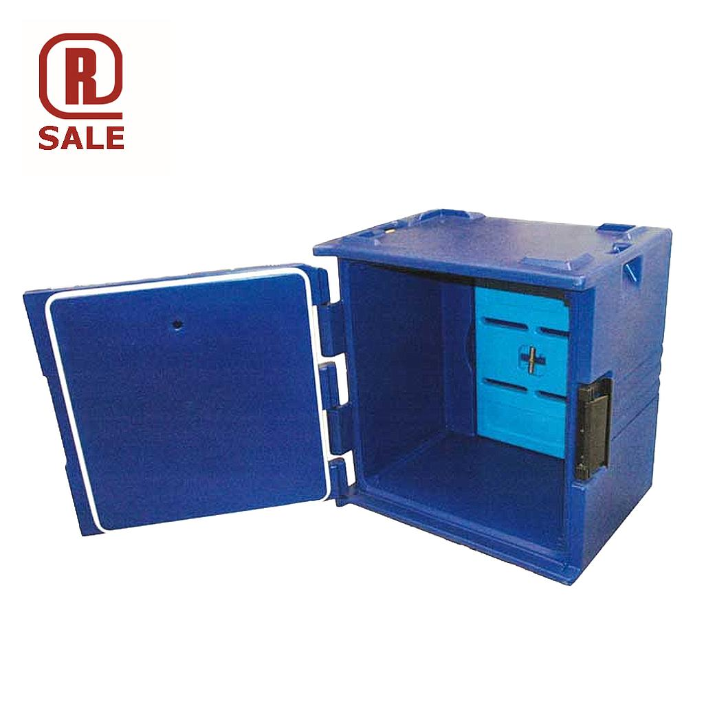 THERMO TRANSPORT CABINET 40x60 164L Blue PE-plastic Cooling block 6 rungs Internal 635x420x675mm {Conforms with: EU 1935/2004, EU 2023/2006, EU 10/2011}