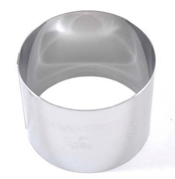 CAKE MOUSSE RING ø80x60mm Stainless steel {Conforms with: EU 1935/2004, EU 2023/2006, EN 1.4310}