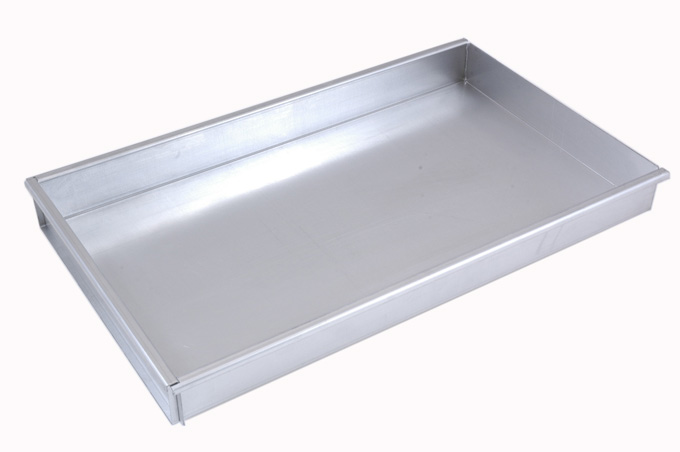 BAKING TRAY SHEET PAN 45x30 450x300x50mm Aluminium 1,4mm Removable short side {Conforms with: EU 1935/2004, EU 2023/2006, EN AW-3003}