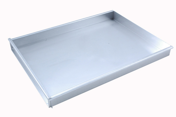 BAKING TRAY SHEET PAN 45x60 450x600x50mm Aluminium 1,4mm Removable short side {Conforms with: EU 1935/2004, EU 2023/2006, EN AW-3003}