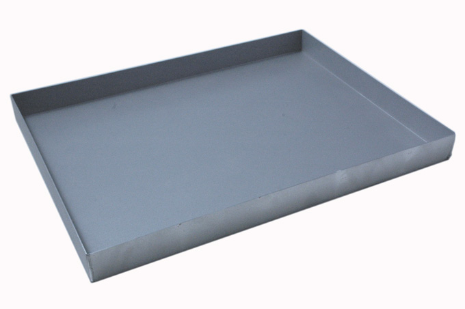 BAKING TRAY 47x63 470x630x50mm Aluminium 1,4mm Nonstick Silicone resin coated RilonHard Grey