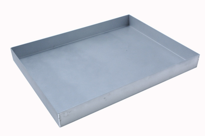 BAKING TRAY SHEET PAN 47x63 470x630x60mm Aluminium 1,4mm Nonstick Silicone resin coated RilonHard Grey {Conforms with: EU 1935/2004, EU 2023/2006, EN AW-3003}