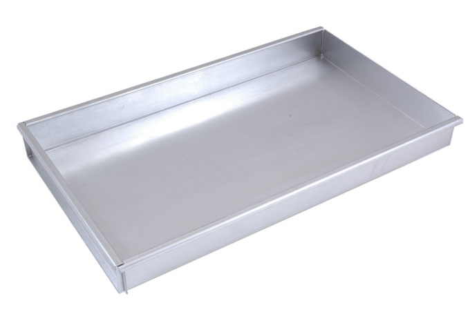 BAKING TRAY GN1/1 325x530x50mm Aluminium 1,4mm Removable short side