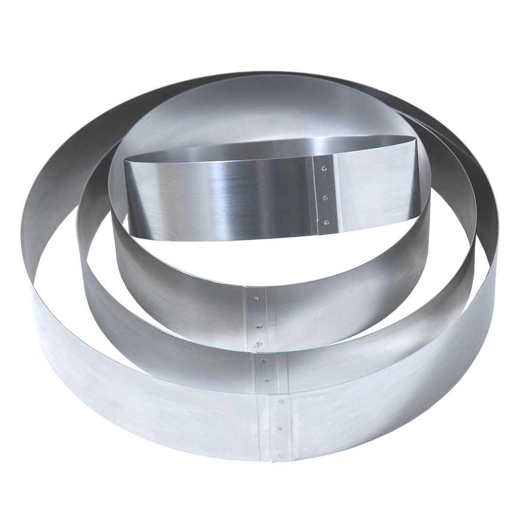CAKE MOUSSE RING ø140x50mm Stainless steel