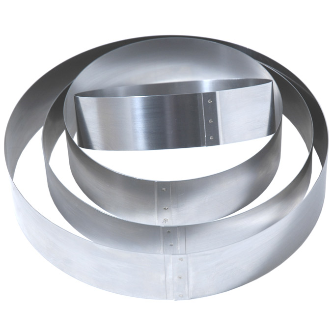 CAKE MOUSSE RING ø230x50mm Stainless steel {Conforms with: EU 1935/2004, EU 2023/2006, EN 1.4310}